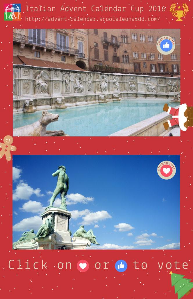 Siena VS Florence - Vote for the Fonte Gaia or Il David